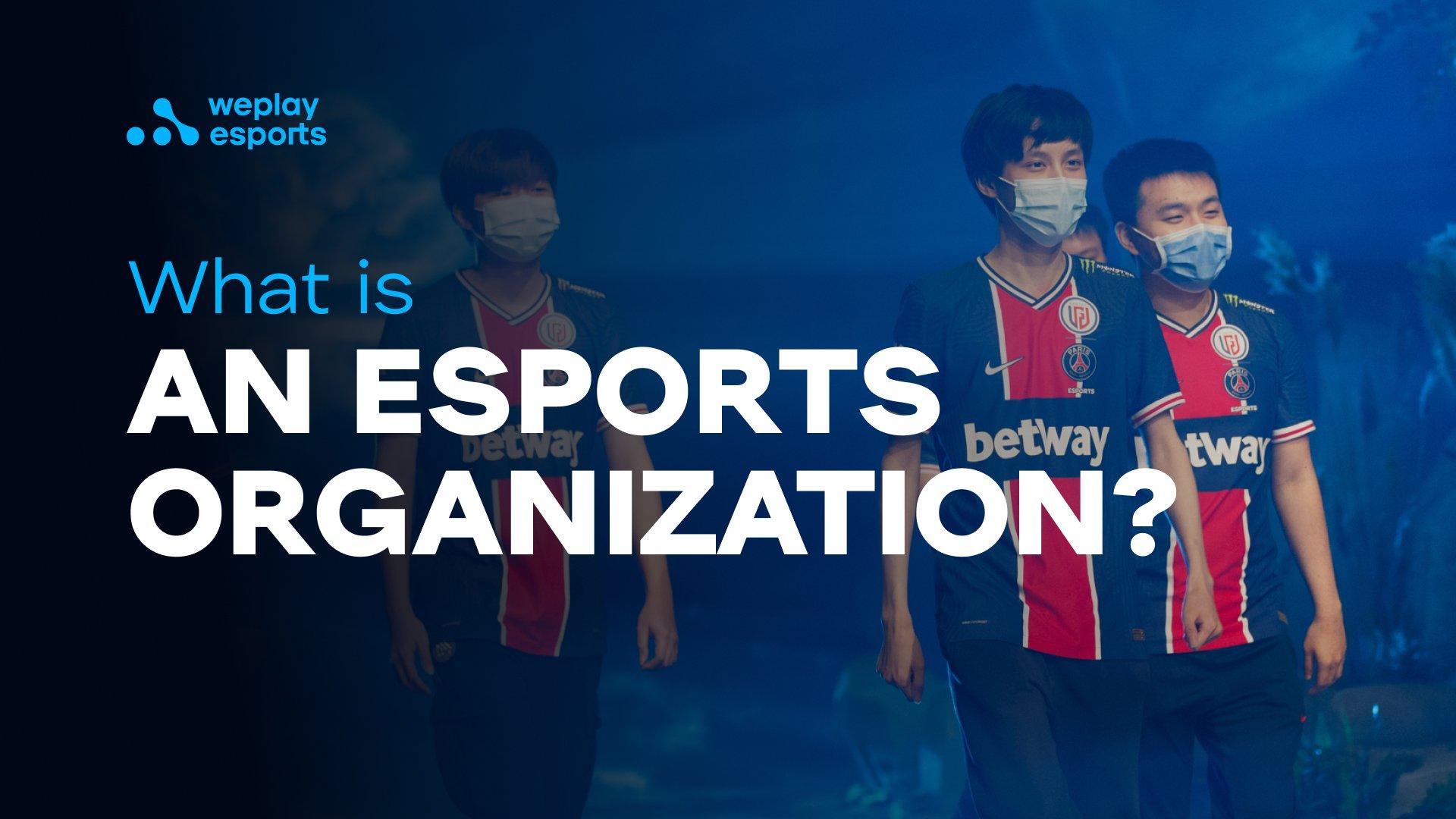 What is an esports organization?
