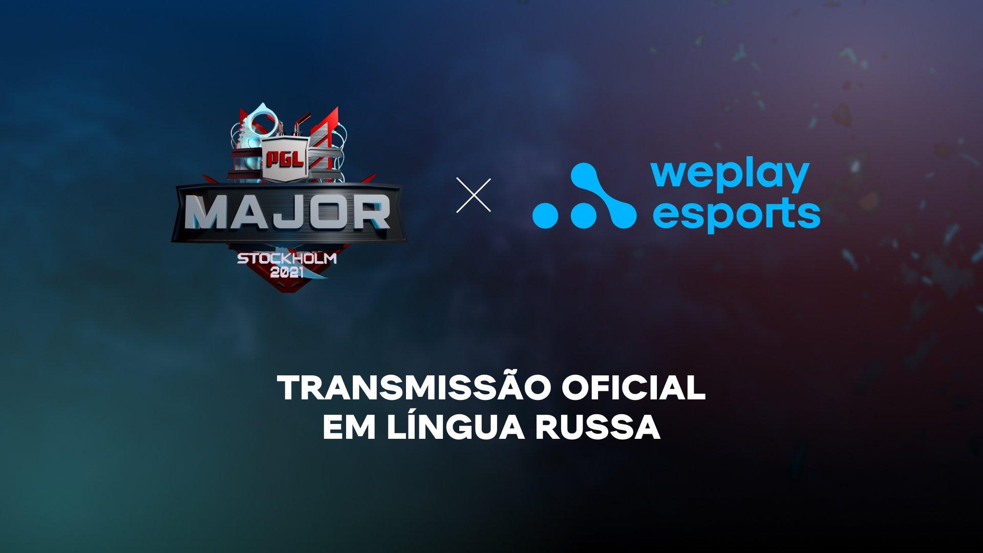 A WePlay Esports é a transmissora oficial do PGL Major Stockholm 2021. Imagem: WePlay Holding