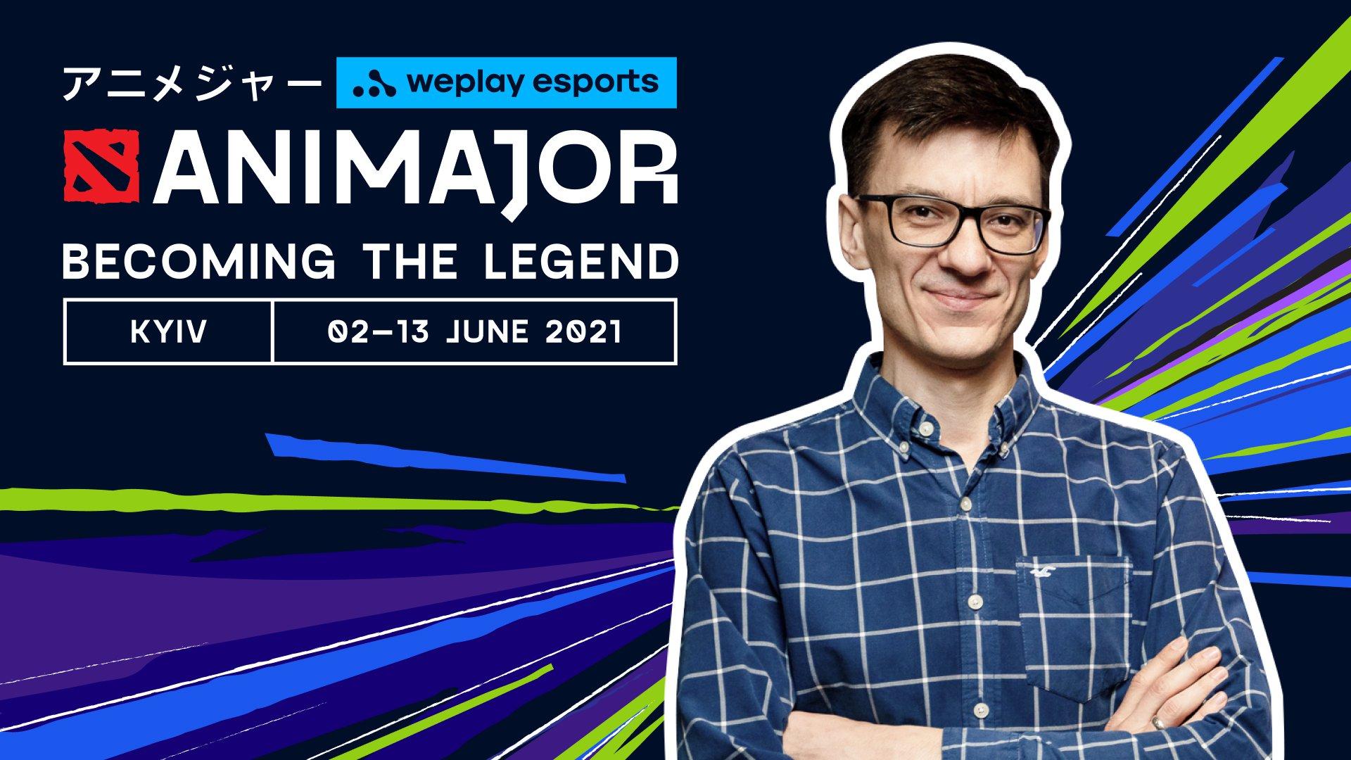 """Oleksii """"yXo"""" Maletskyi, host of the Ukrainian-language panel of WePlay AniMajor and talent at WePlay Esports. Photo: WePlay Holding"""
