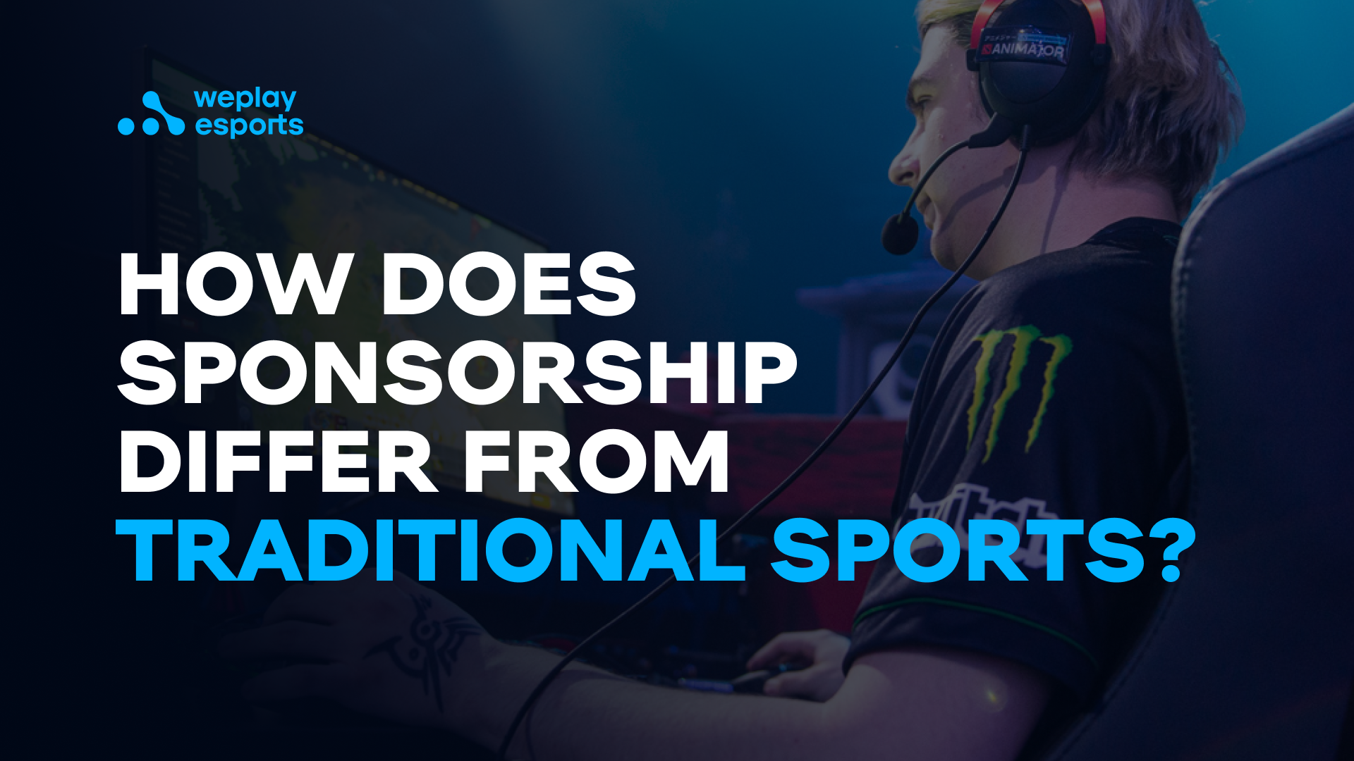 How does sponsorship differ from traditional sports?
