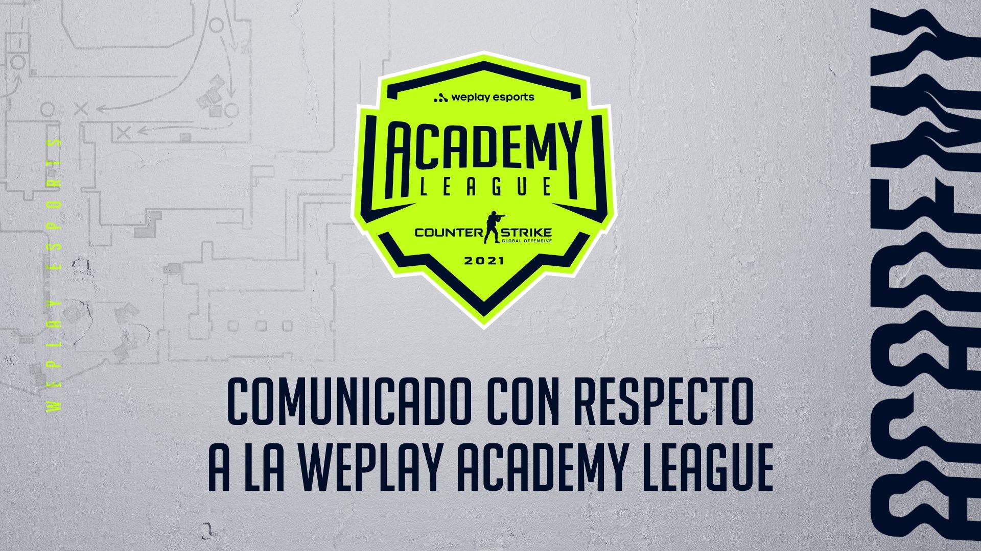 Comunicado con respecto a la WePlay Academy League. Imagen: WePlay Holding