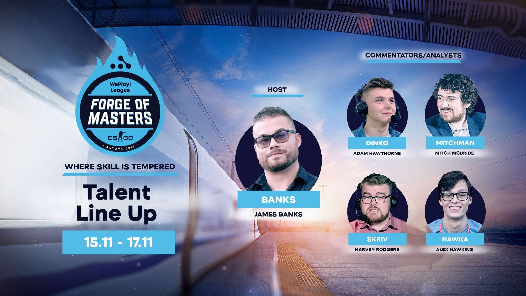 English talent team announced for the Forge of Masters WePlay! League LAN final