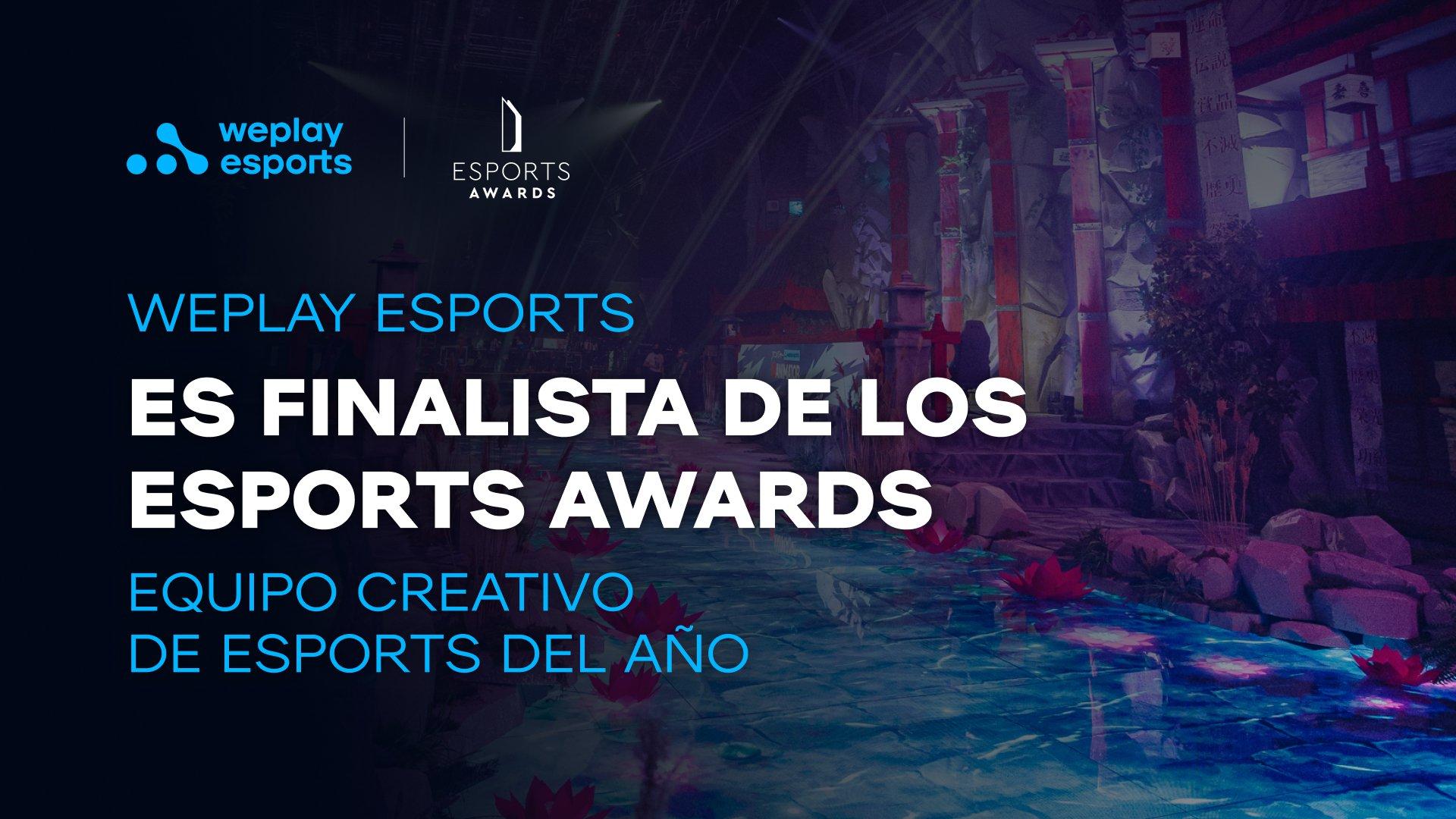 WePlay Esports es finalista de los Esports Awards. Foto: WePlay Holding