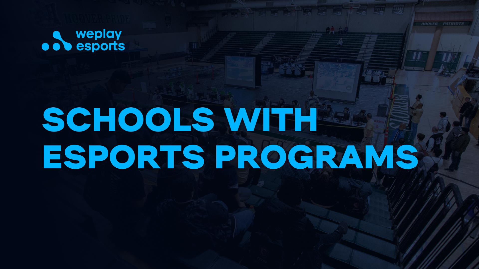 Schools with esports programs