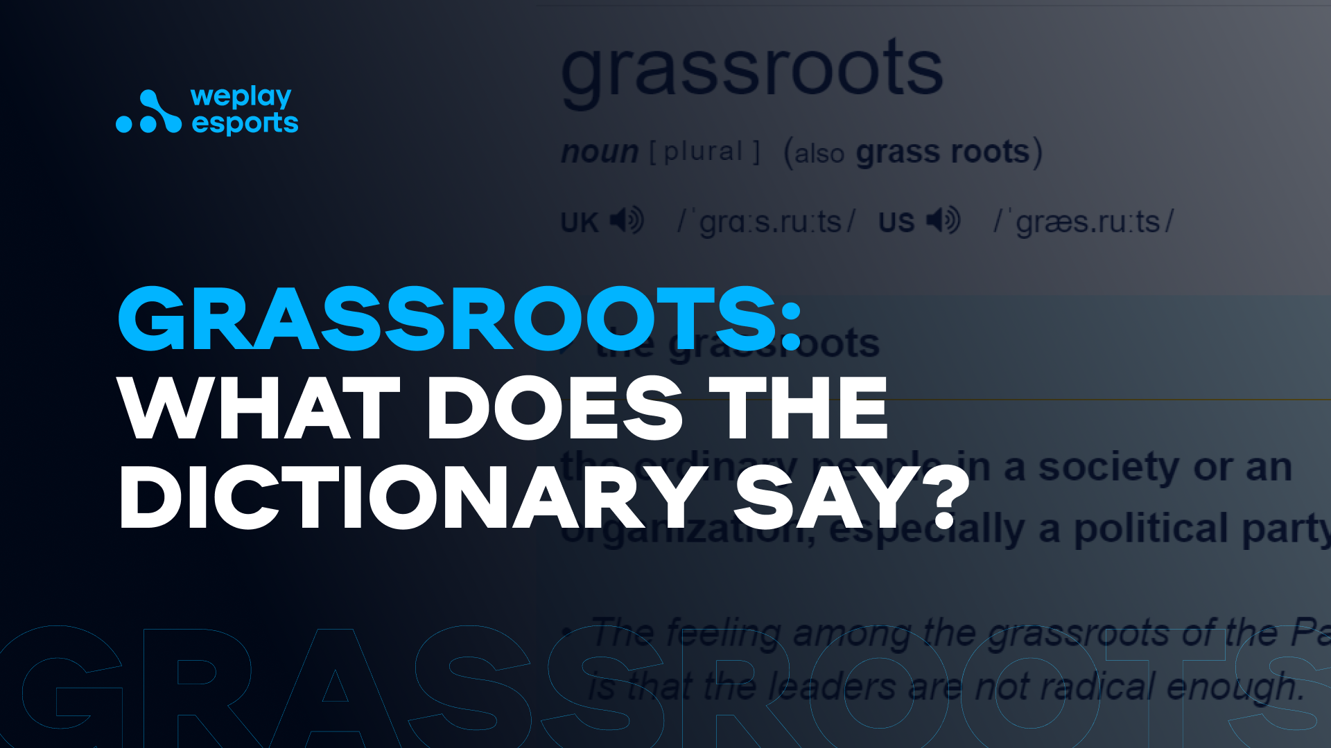 Grassroots: what does the dictionary say?