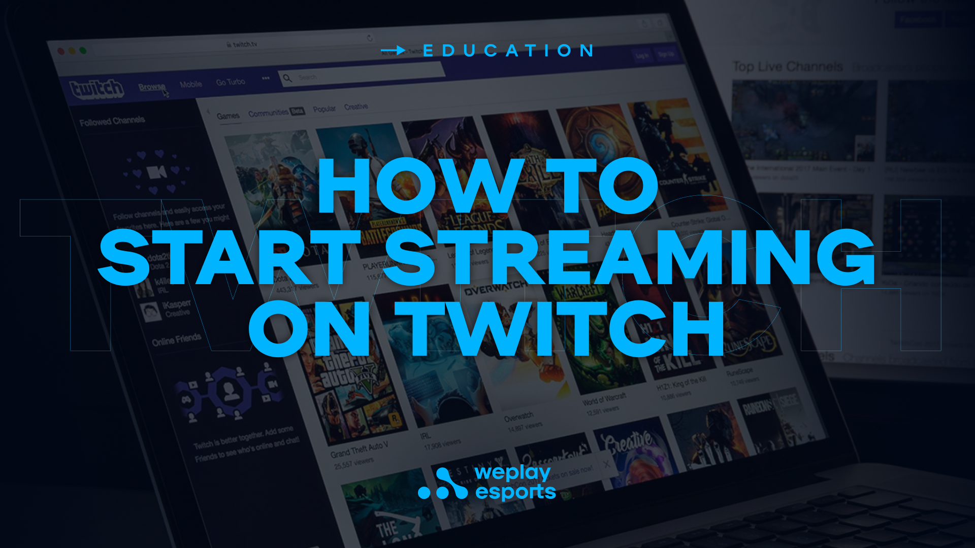 How to start streaming on Twitch. Image: WePlay Holding