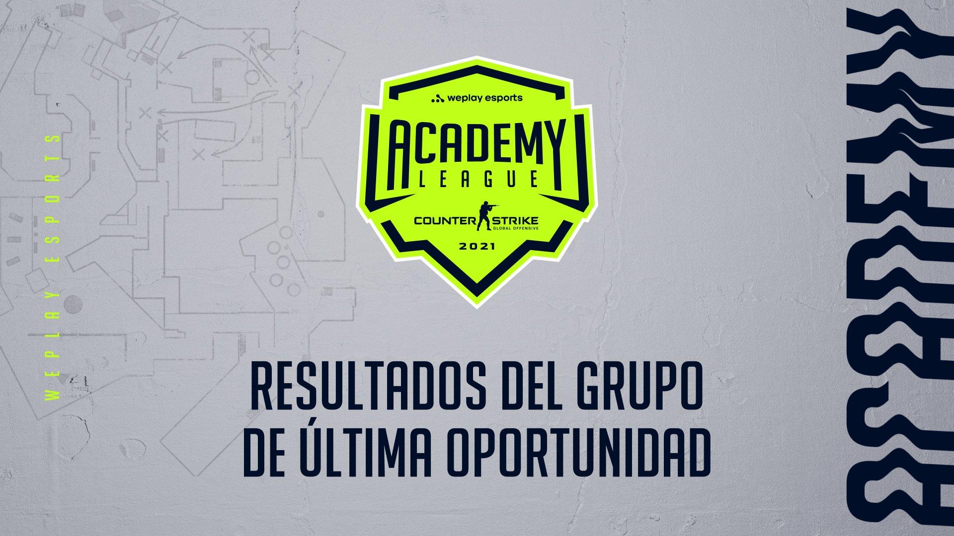 Resultados del Grupo de última oportunidad de la Temporada 2 de la WePlay Academy League. Imagen: WePlay Holding