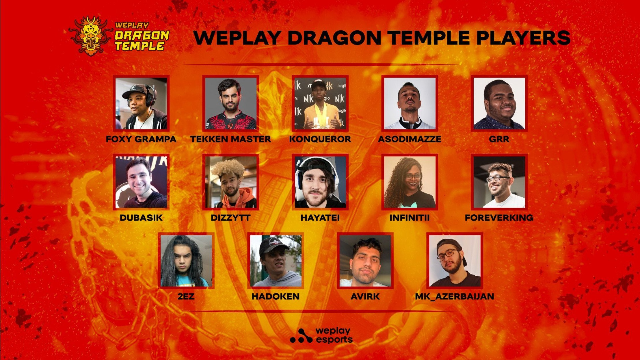 Meet the WePlay Dragon Temple Competitors
