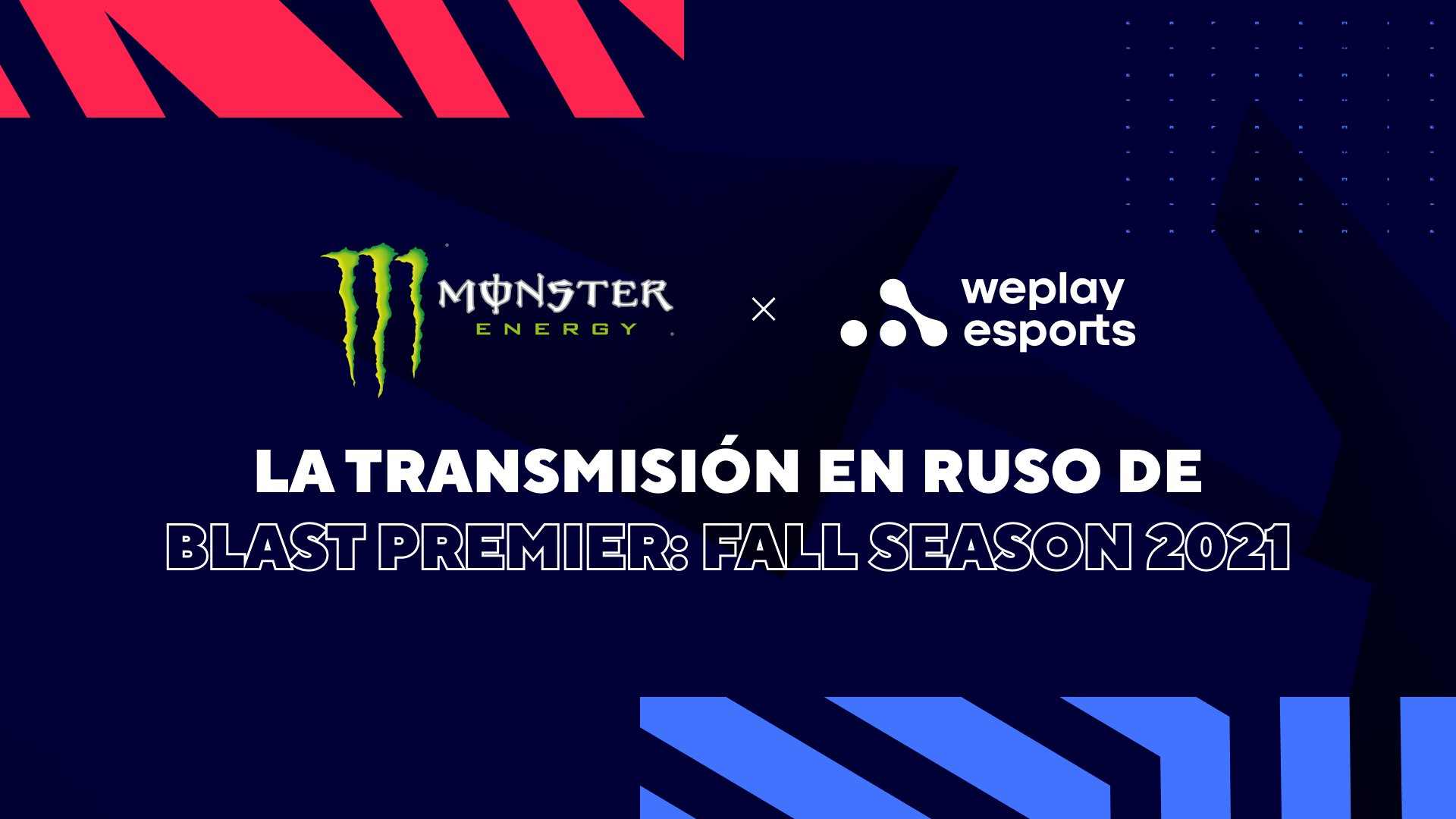 WePlay Holding y Monster Energy son socios. Imagen: WePlay Holding