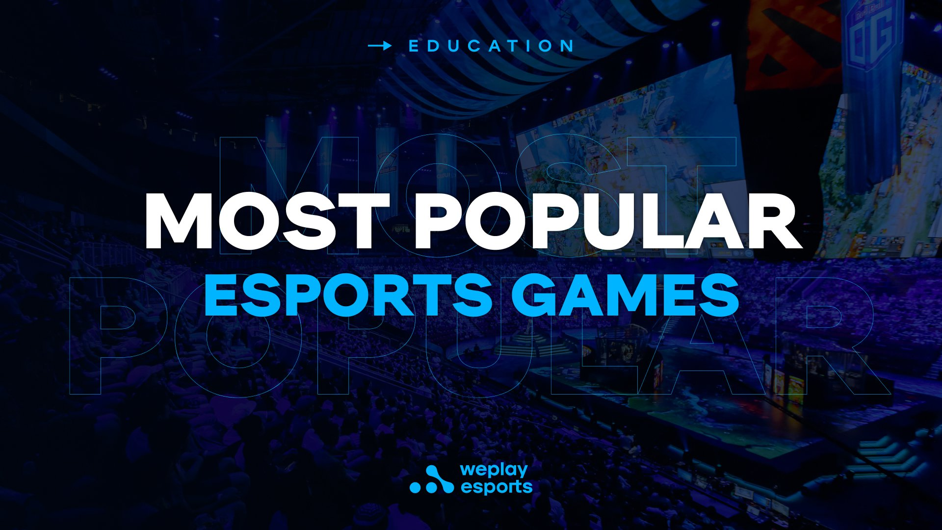 Most popular esports games. Image: WePlay Holding