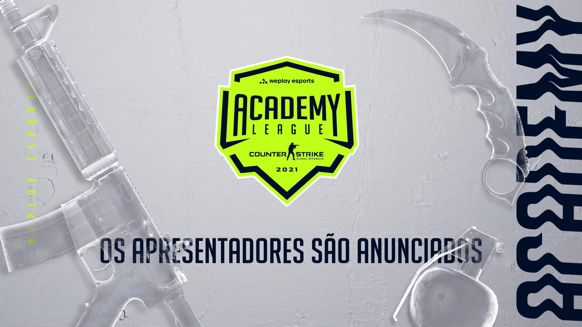 Os apresentadores da primeira temporada do WePlay Academy League. Imagem: WePlay Holding