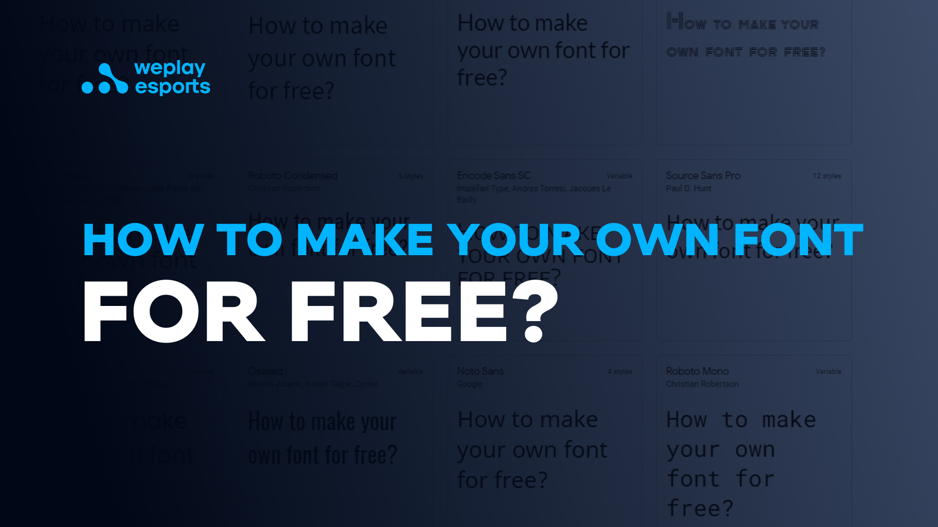 How to make your own font for free?