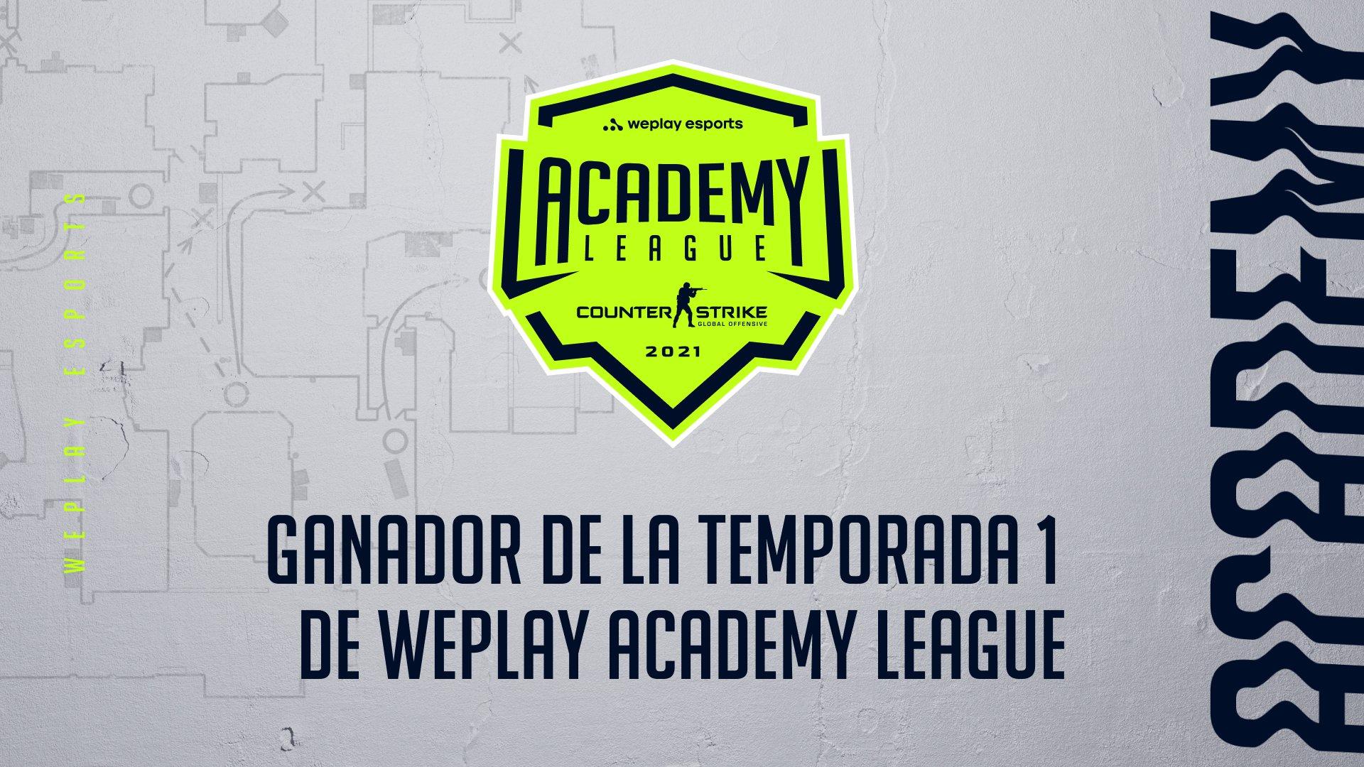 Los ganadores de la Temporada 1 de la liga WePlay Academy League. Imagen: WePlay Holding