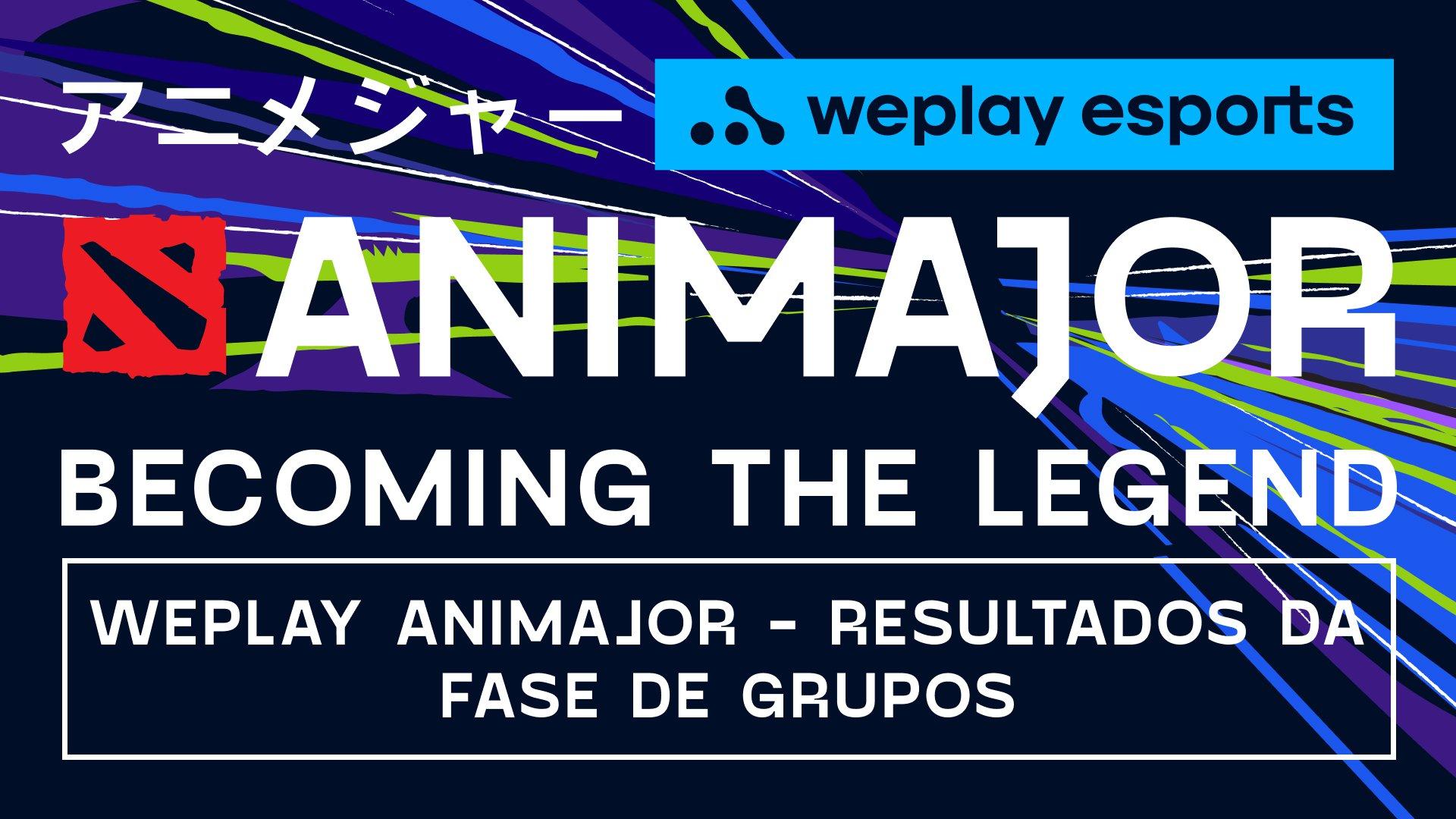 WePlay AniMajor - Resultados da Fase de Grupos. Imagem: WePlay Esports
