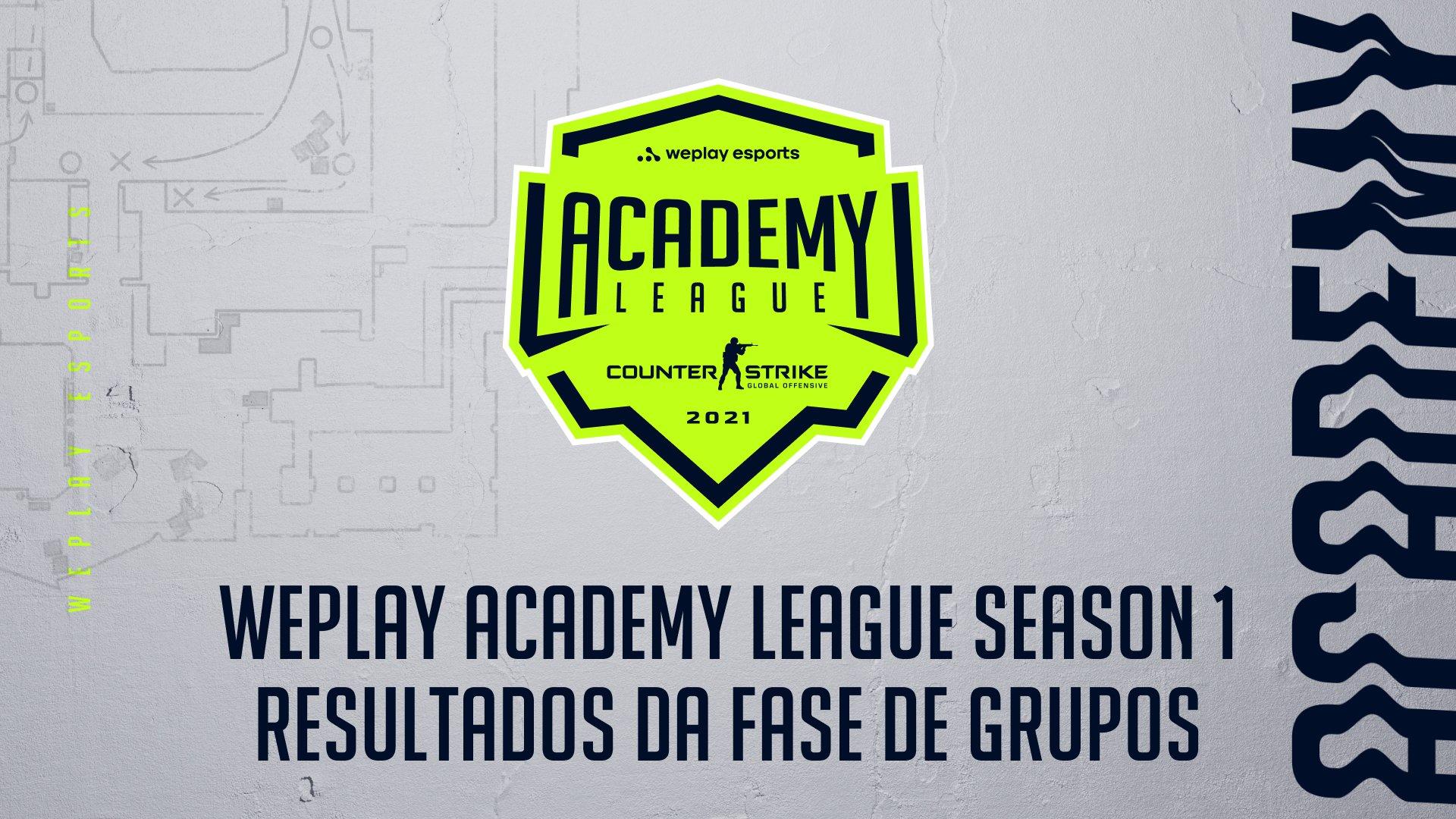 Resultados da fase de grupos da WePlay Academy League Season 1. Imagem: WePlay Holding