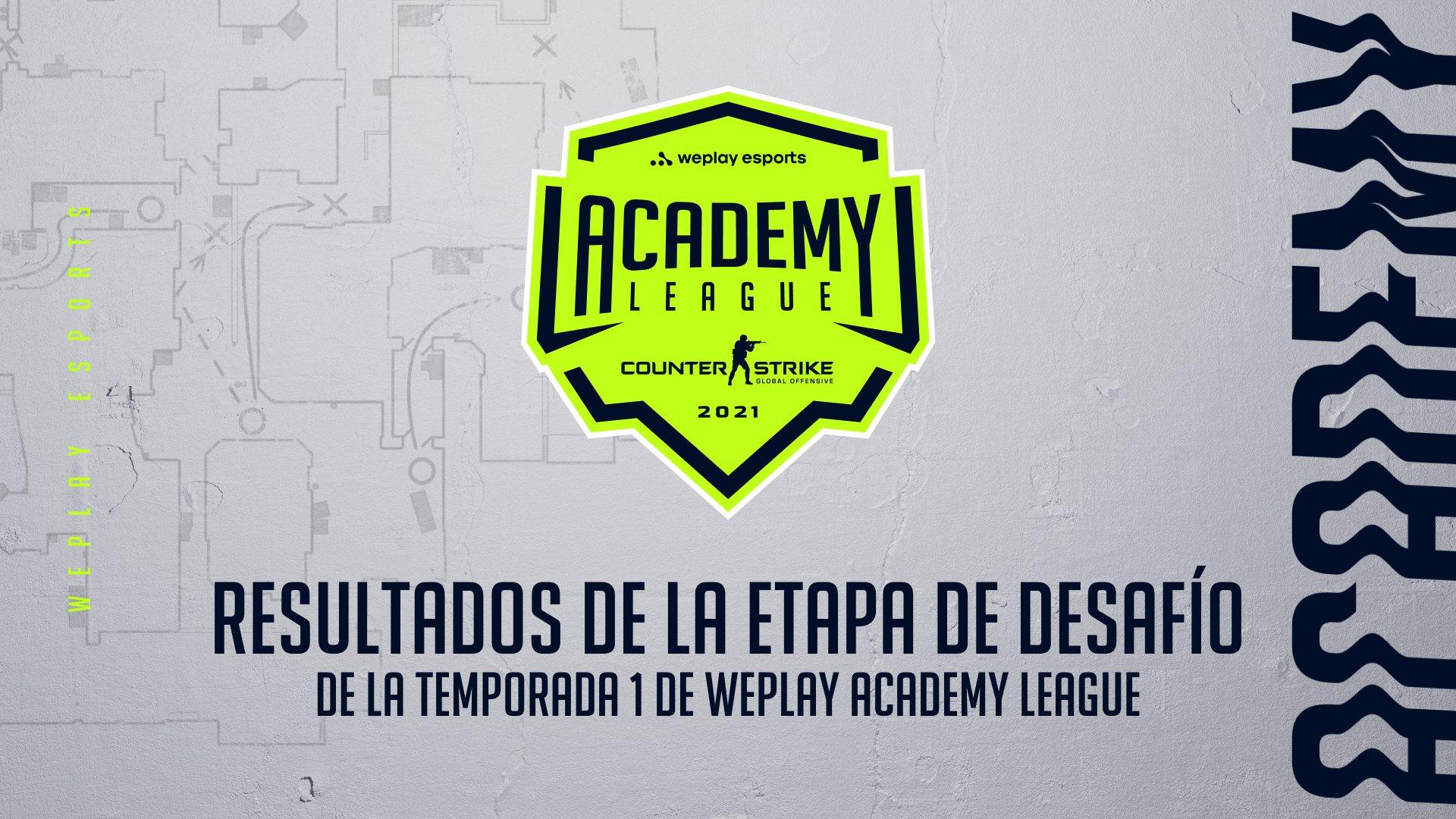 Resultados de la Etapa de desafío de la Temporada 1 de la liga WePlay Academy League. Imagen: WePlay Holding