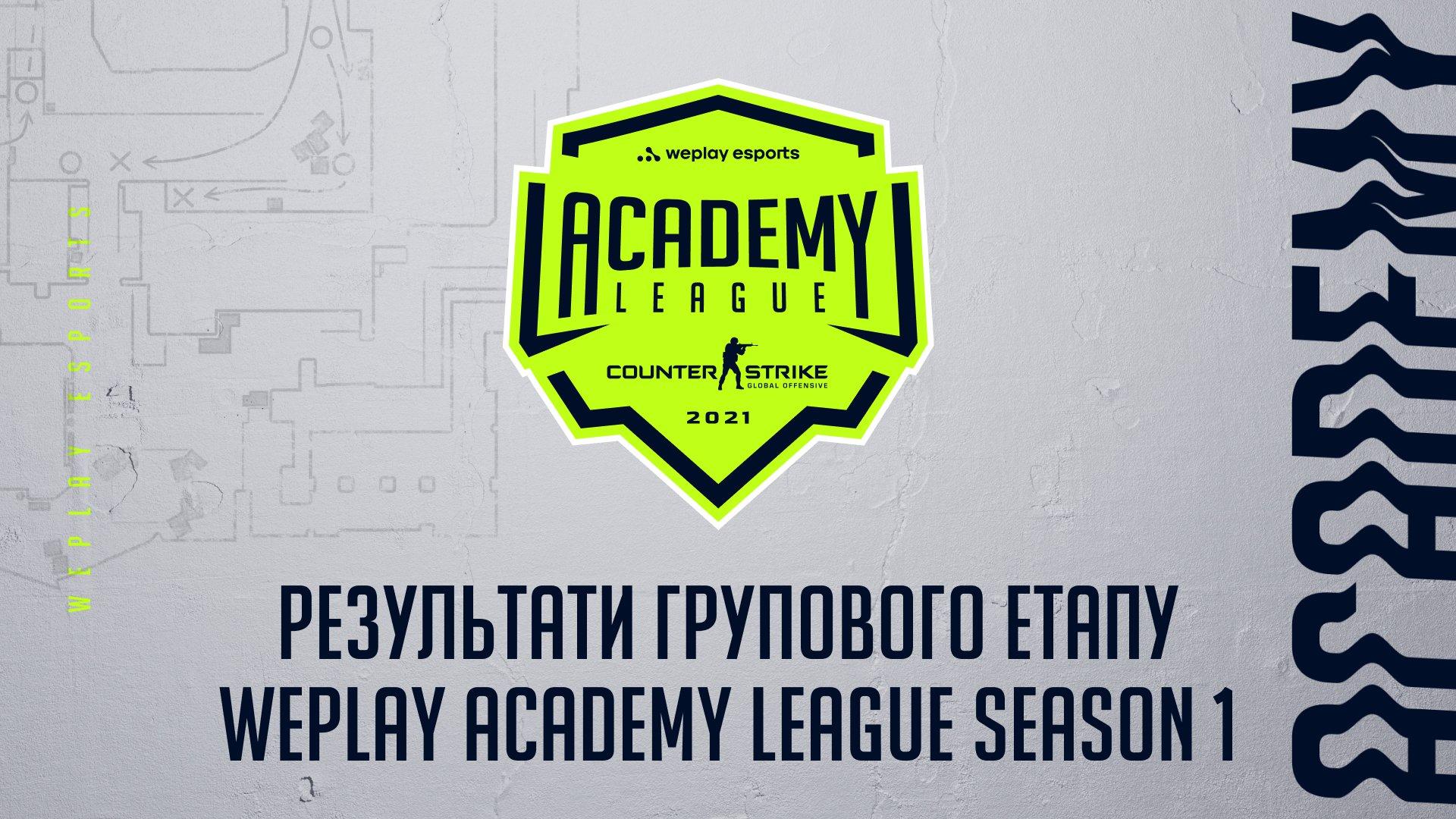 Результати групового етапу WePlay Academy League Season 1. Зображення: WePlay Holding