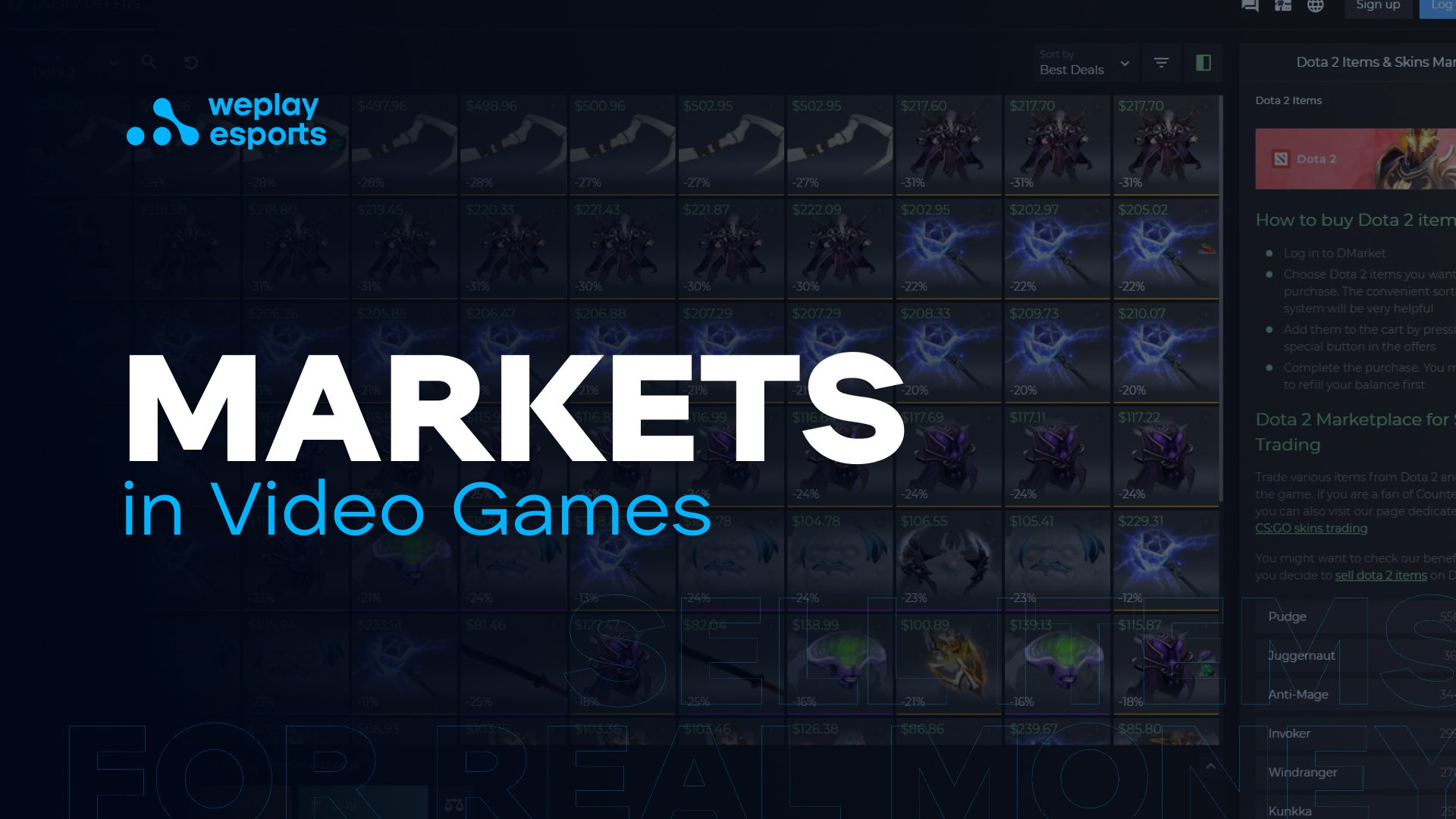 Markets in Video Games