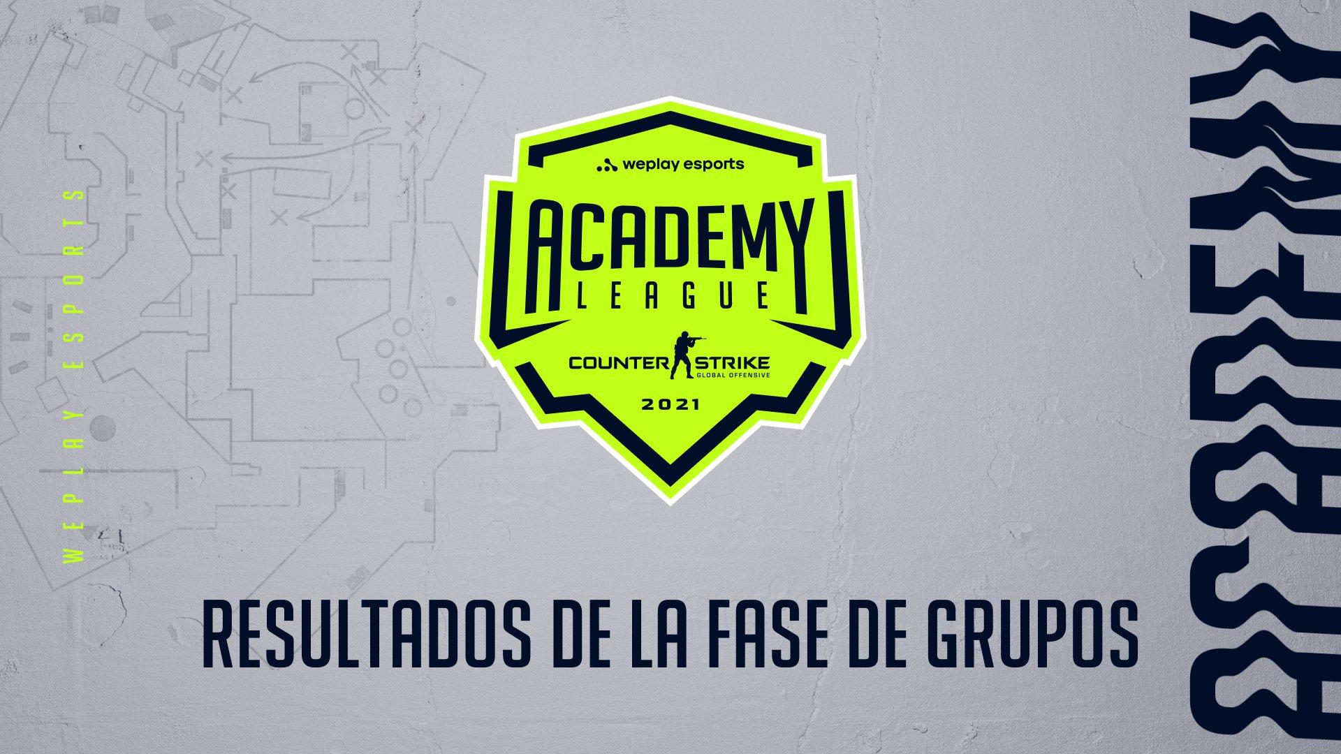 Resultados de la Fase de grupos de la Temporada 2 de WePlay Academy League. Imagen: WePlay Holding