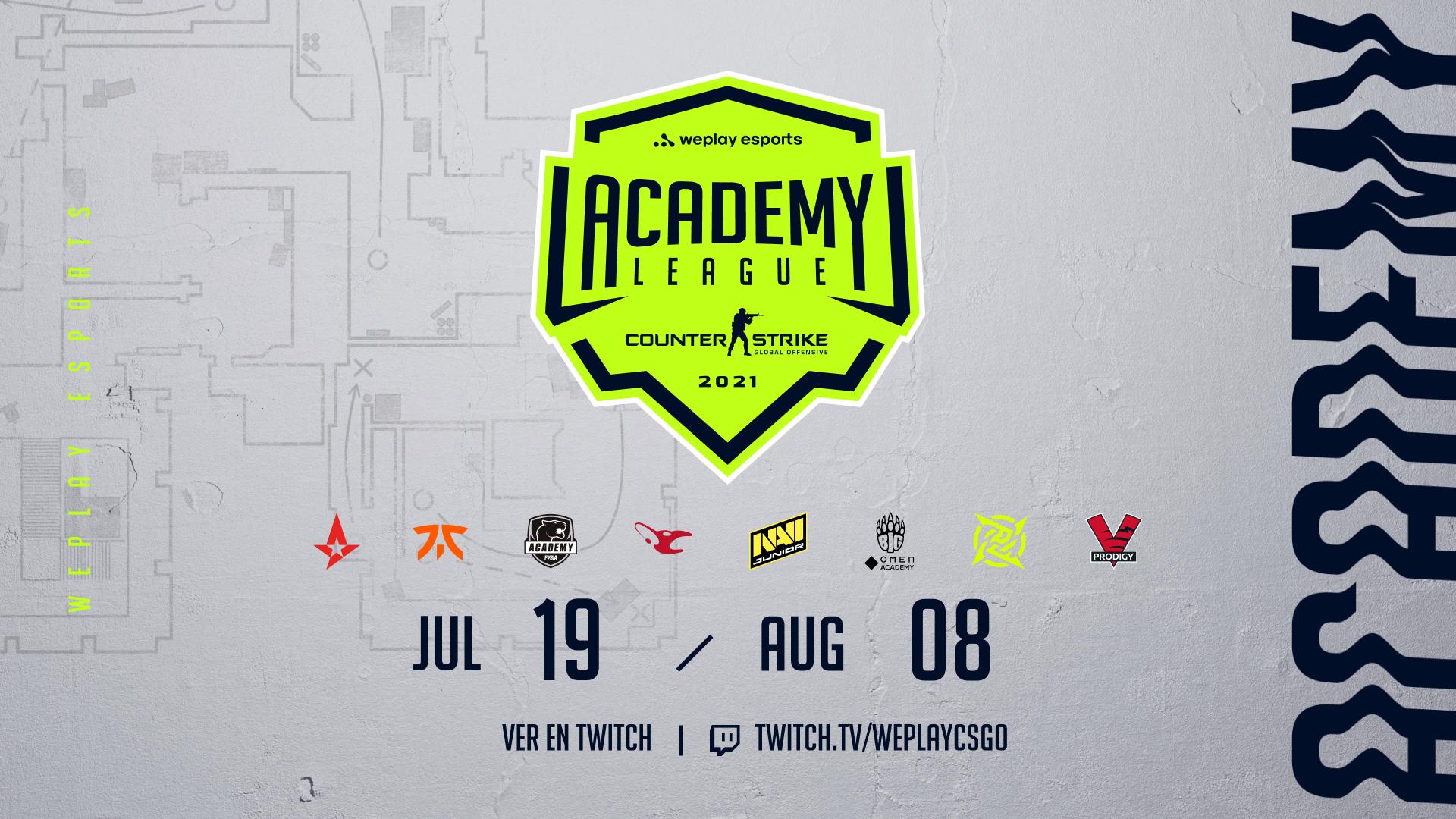 WePlay Holding y los mejores equipos de CS:GO presentan la Temporada 1 de la WePlay Academy League. Imagen: WePlay Holding