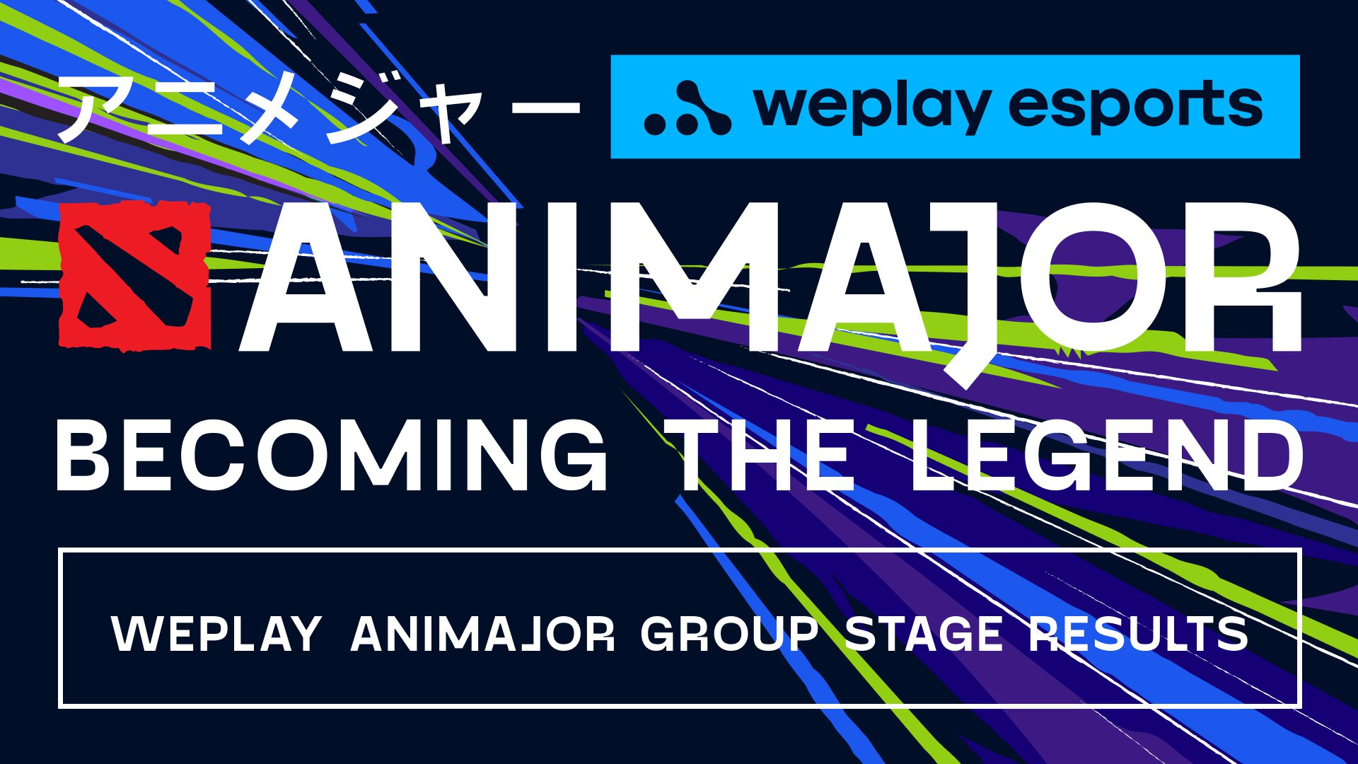 WePlay AniMajor Group Stage results. Visual: WePlay Esports