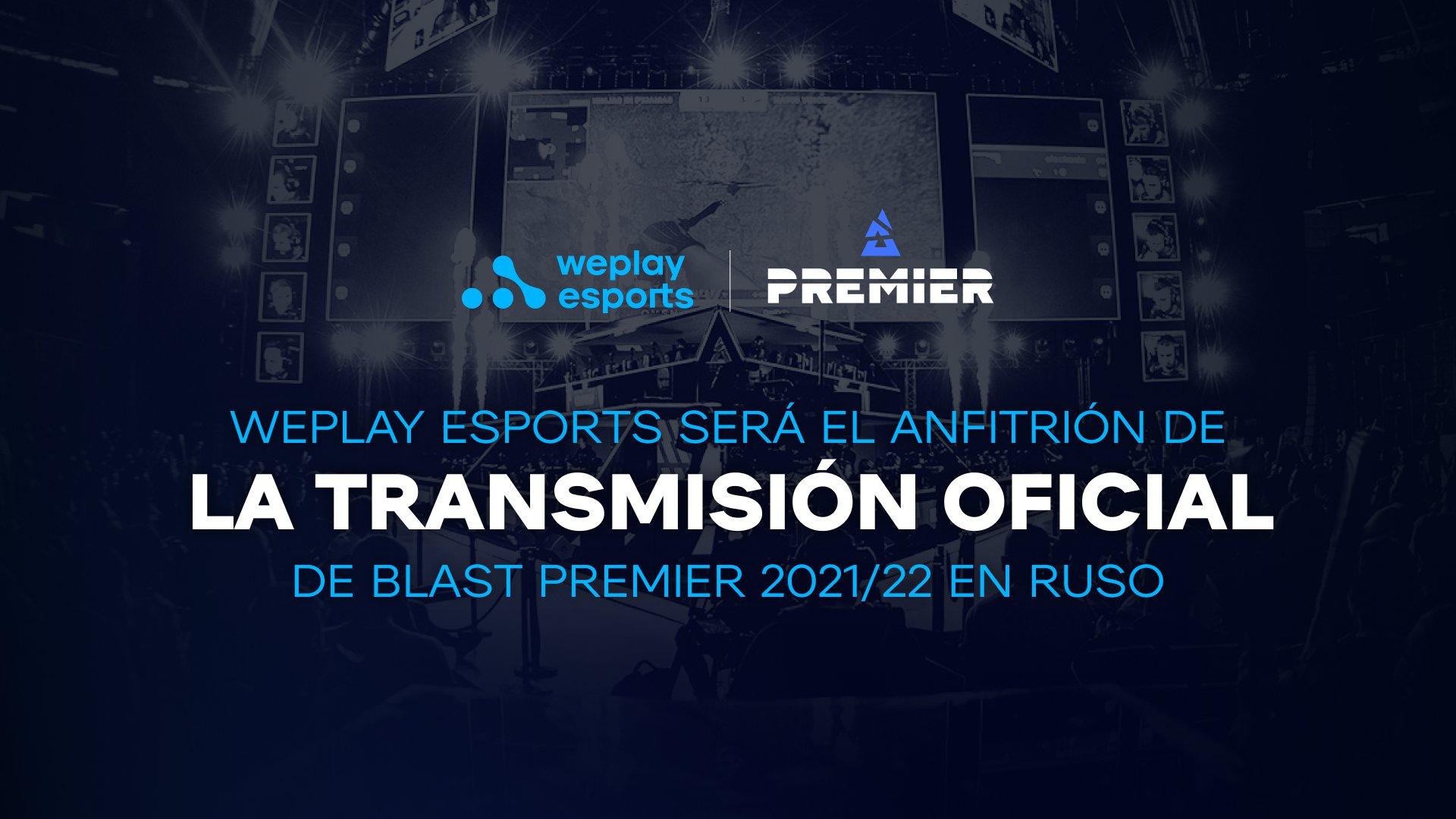 WePlay Esports será el anfitrión de la transmisión oficial de BLAST Premier 2021/22 en ruso. Imagen: WePlay Holding
