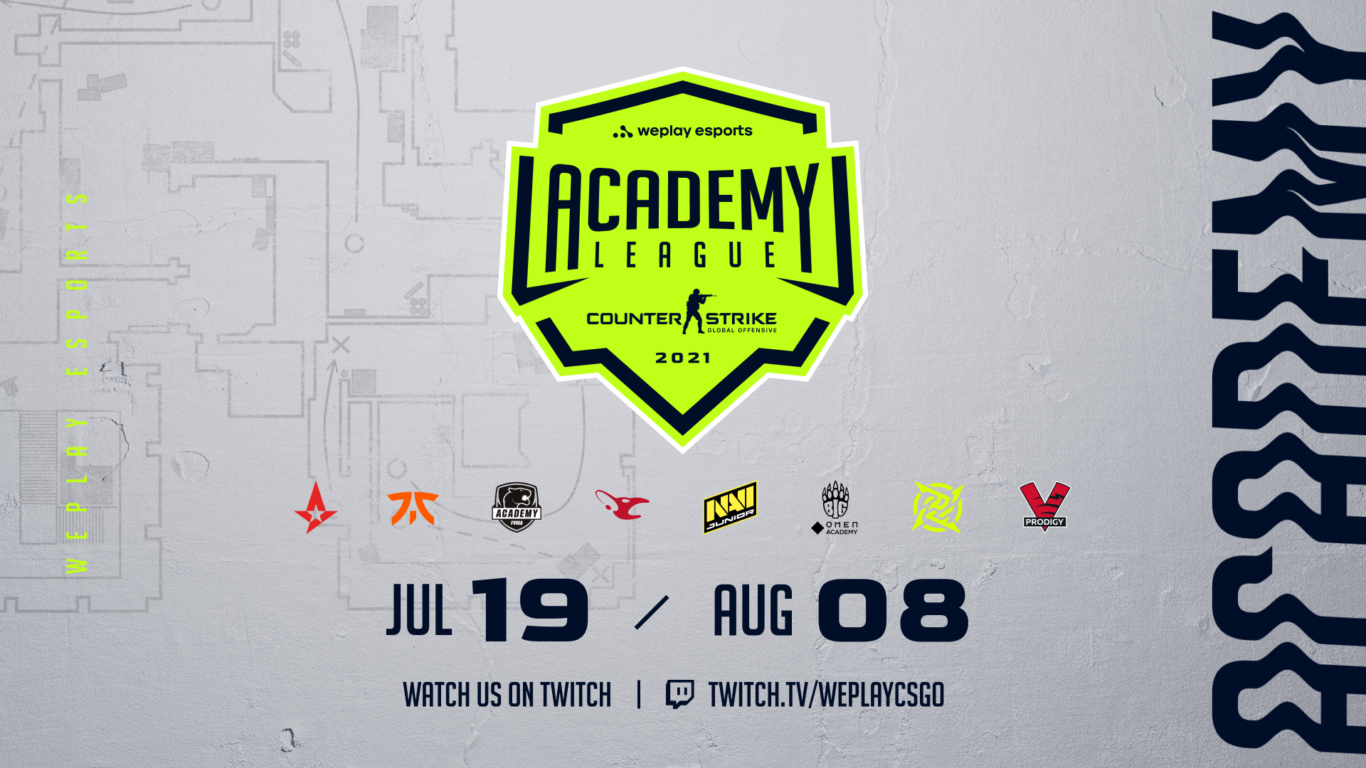 WePlay Holding and top CS:GO teams present the WePlay Academy League Season 1. Image: WePlay Holding