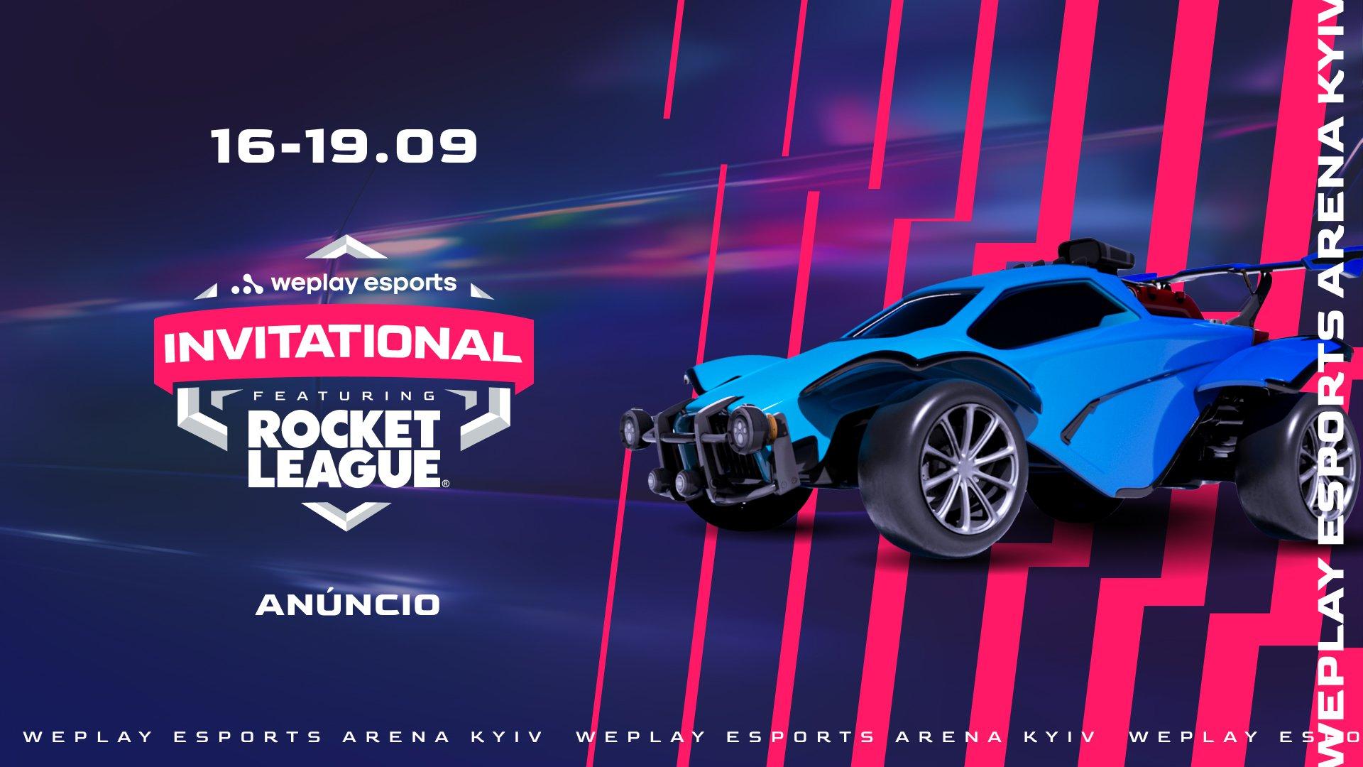 WePlay Esports Invitational: o primeiro torneio de Rocket League feito pela WePlay Holding. Visual: WePlay Holding