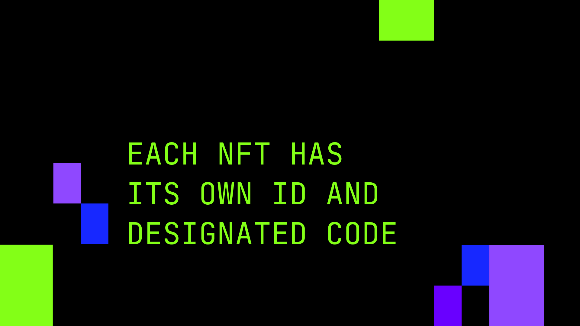 Each NFT has its own ID and designated code.