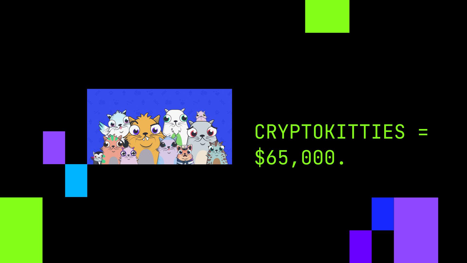 CryptoKitties = $65,000