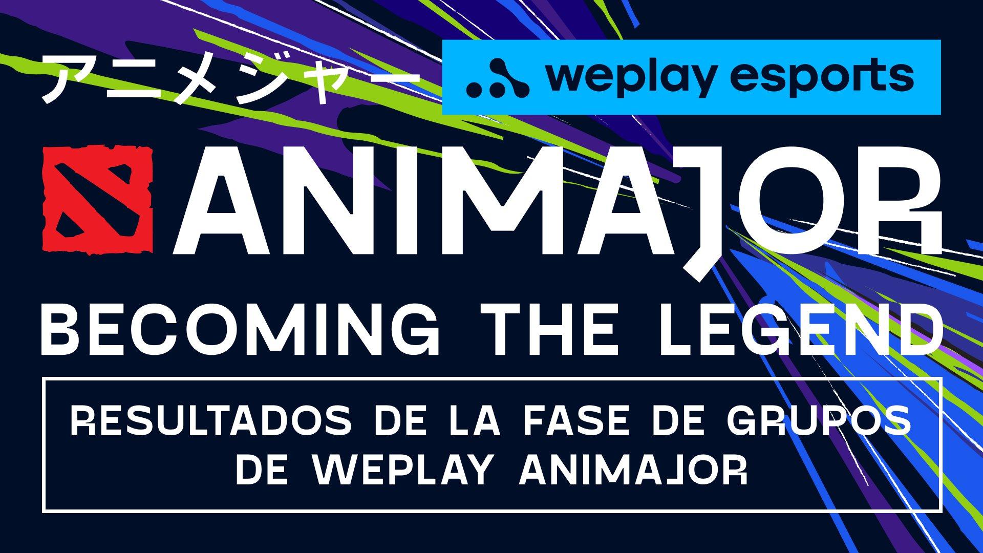 Resultados de la Fase de grupos de WePlay AniMajor. Imagen: WePlay Esports