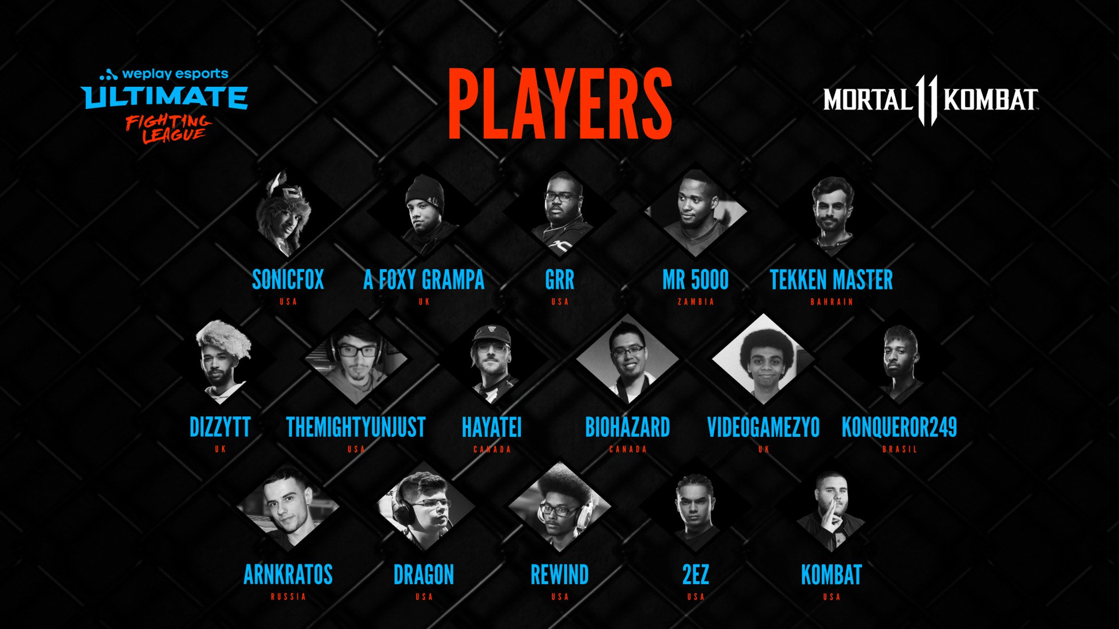 WePlay Esports reveals player roster of WePlay Ultimate Fighting League Season 1 for MK11