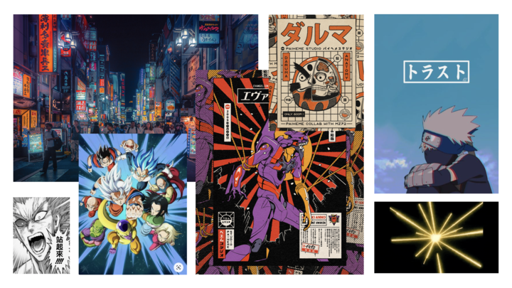 Examples of the Japanese visual culture. Image: Google