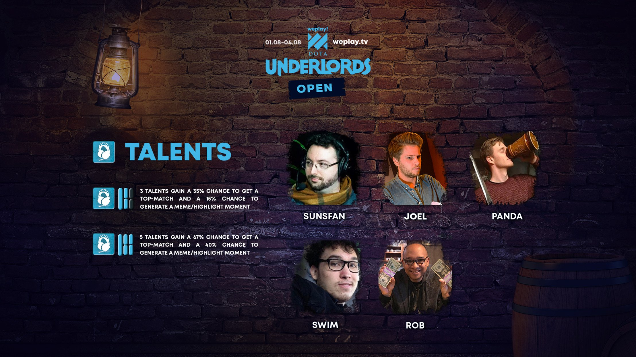 WePlay! Dota Underlords Open — English casters are announced