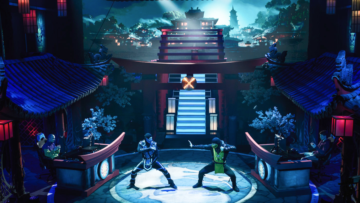 WePlay Dragon Temple, a fighting game tournament with enhanced AR effects
